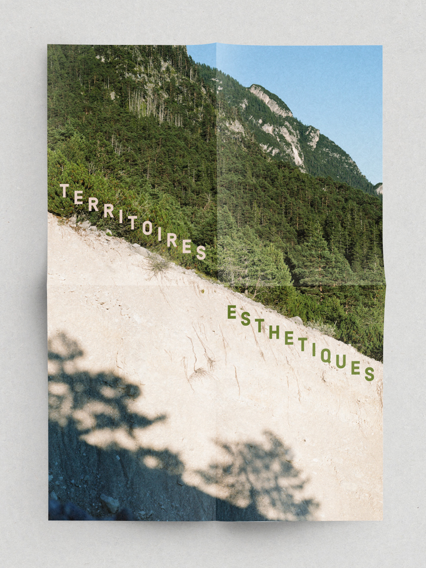 Territoires Esthétiques  2nd édition poster for lecture series | Photography Giaime Meloni | Graphic design Roberta Donatini