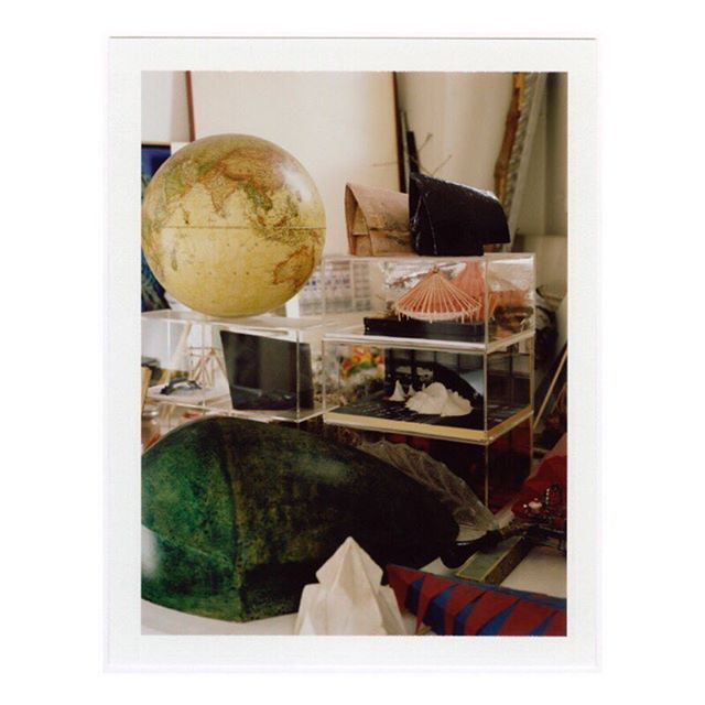 """From the archives : polaroïd out of Patrick Bouchain """"Histoire de Construire"""", a series made inside the Construire atelier. Photo @cyrilleweiner #architecture #inspiration #model #Polaroid #patrickbouchain"""