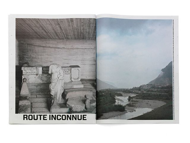 Banale e Brutale, 16 pages #journal designed by @jadoooh and published  by @atmospheriquesnarratives An investigation on the #vajont territory #dolomiti and the #dam #catastrophy #eventAn invitation of @calamitaproject #creativedirection #photos and texts by @atmospheriquesnarratives founders @cyrilleweiner and @giaimemeloni Printed by @newspaperclub #brutalism #architecture #landscape #concrete #photography #publishing #newspaperLimited edition. Almost sold out. Last copies available @librairie_volume